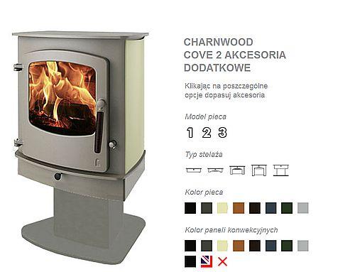 Charnwood Cove 2 kolory i opcje paneli bocznych do piecyka Cove 2 firmy Charnwood