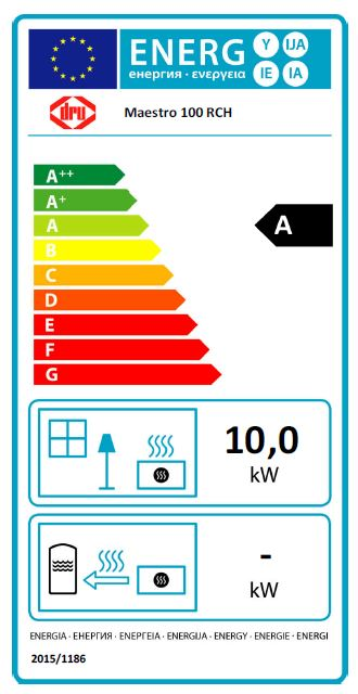 DRU Maestro 100 RCH Maestro_100_etykieta_energetyczna