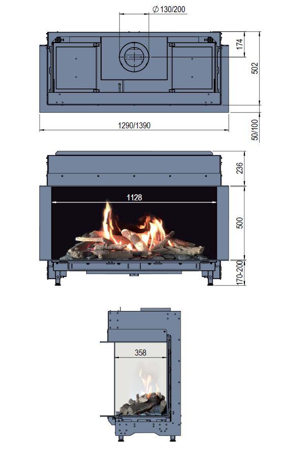 Faber Matrix 1050/500 III wymiary wkładu komionkowego Marki Faber model Matrix1050x500 III